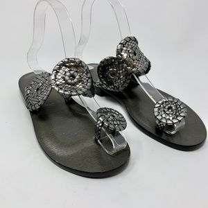 Jack Rogers Santa Fe Sandals Pewter Metallic